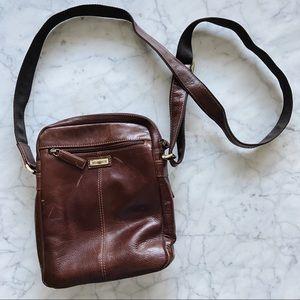 Vintage Visconti Cherry Brown Leather Crossbody